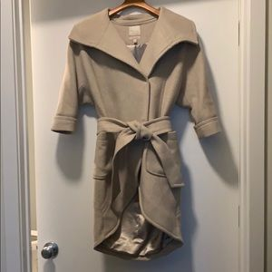 Tan/Cream Wool Coat The Limited size extra small